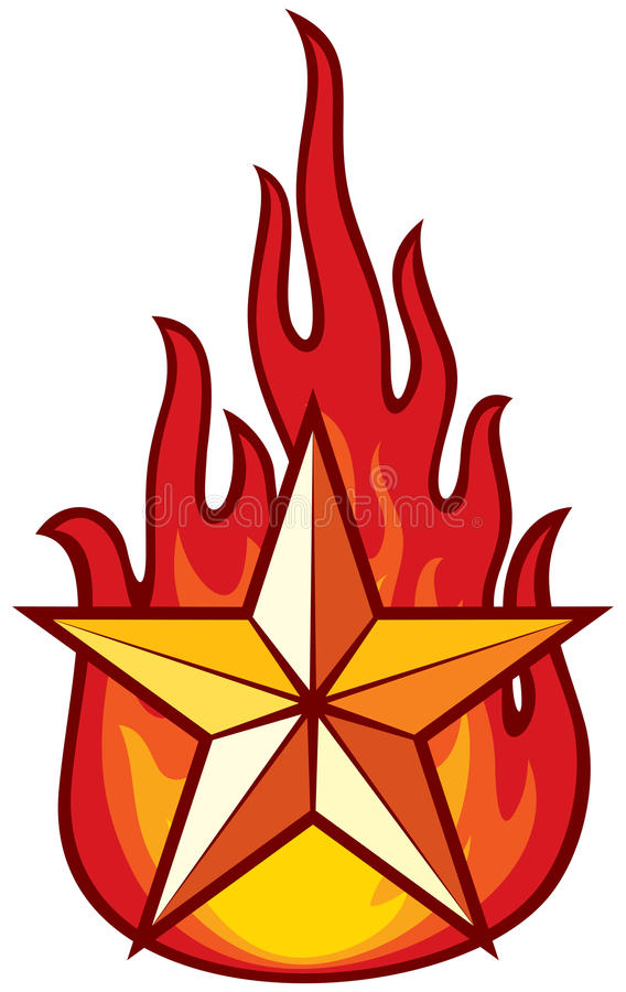 Download Star and flame stock vector. Image of danger, passion - 24205361