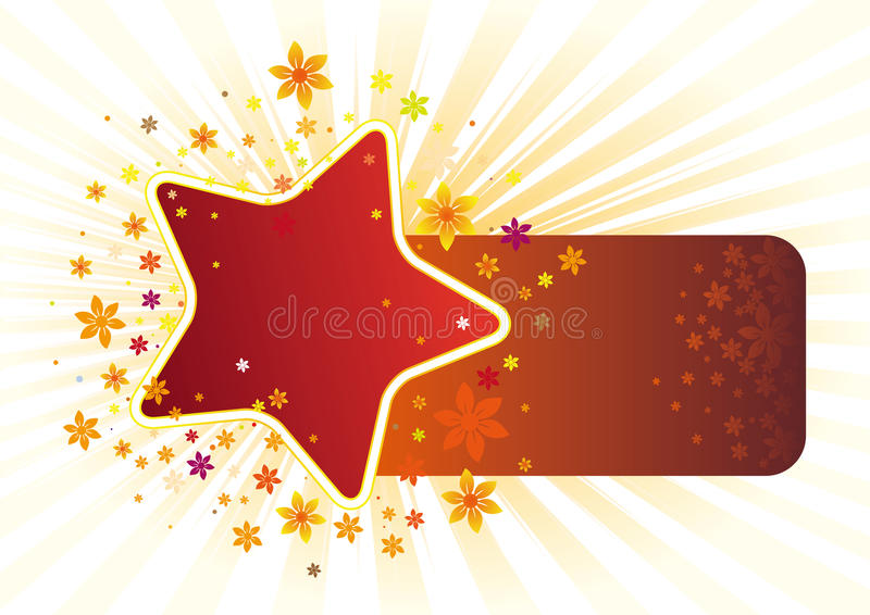 star and floral royalty free illustration