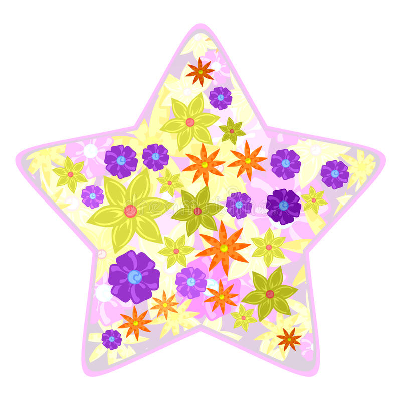 Download Star flowers stock vector. Illustration of fashion, flower - 19039015