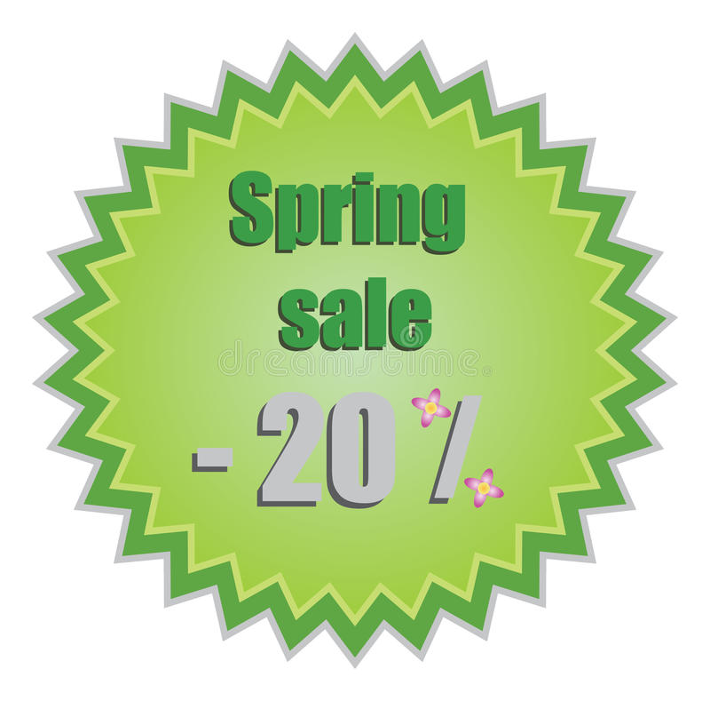 Free Star For Spring Discount Prices. Vector Illustrati Royalty Free Stock Photo - 20445025