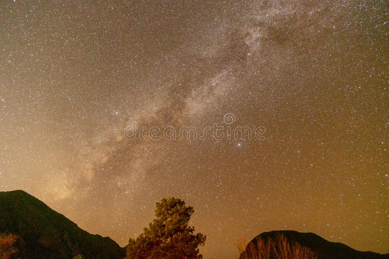 Milky Way Star Gazing in Darkest Place in the USA. Star Gazing in Big Bend National Park, Texas, landscape, nature, abstract, amazing, astronomical, astronomy royalty free stock photos