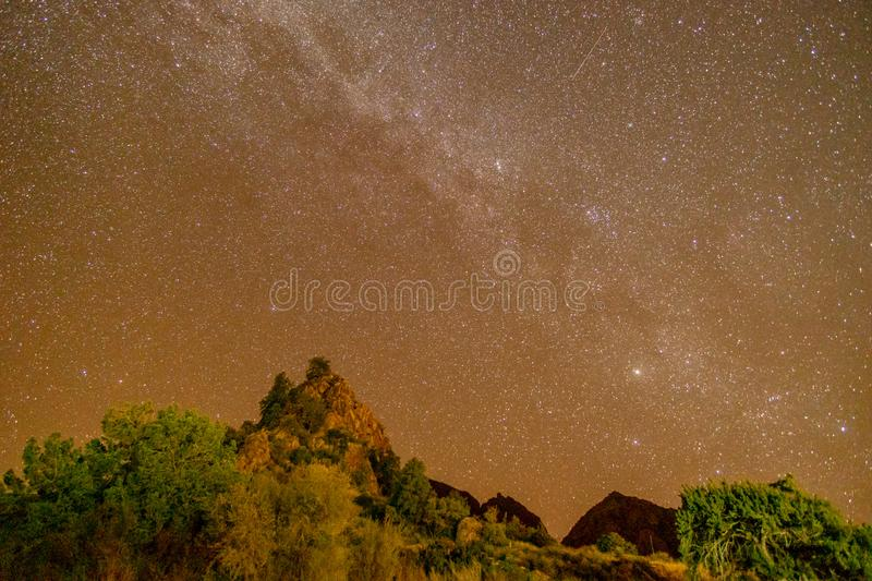 Milky Way Star Gazing in Darkest Place in the USA. Star Gazing in Big Bend National Park, Texas, landscape, nature, abstract, amazing, astronomical, astronomy royalty free stock photo