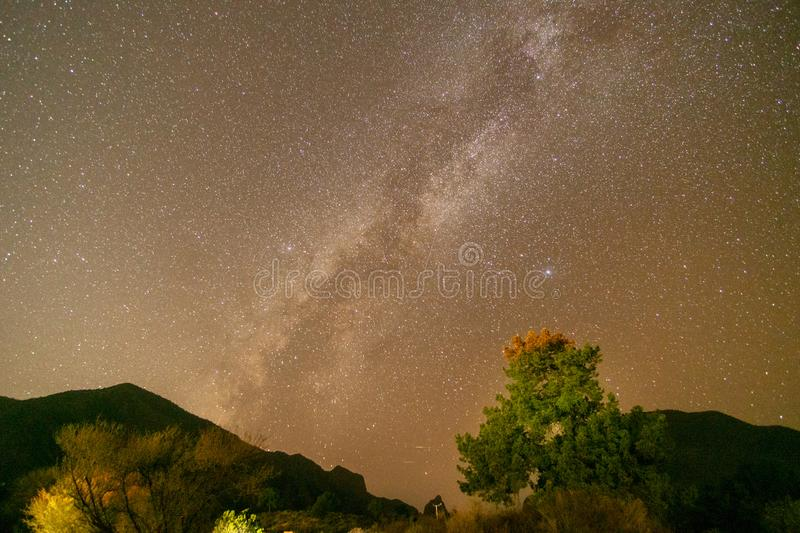 Milky Way Star Gazing in Darkest Place in the USA. Star Gazing in Big Bend National Park, Texas, landscape, nature, abstract, amazing, astronomical, astronomy royalty free stock photography