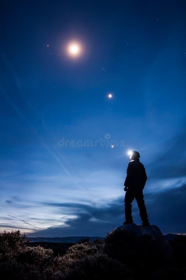 Star Gazing stock image