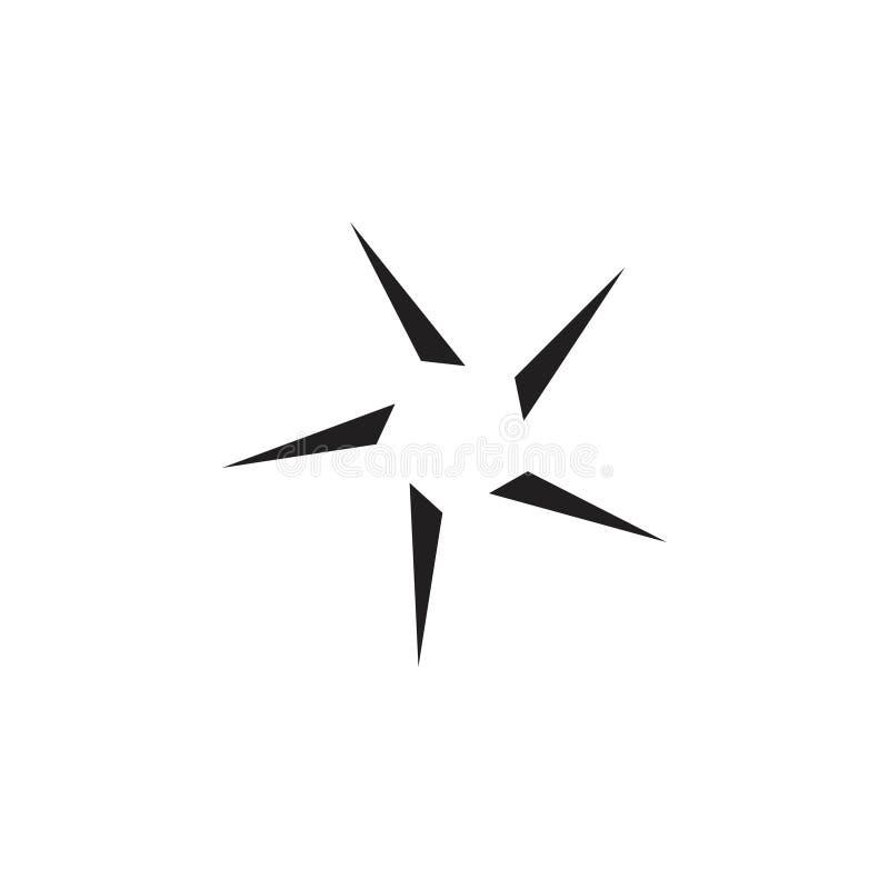 Star geometric logo vector. Unique unusual luxury design concept royalty free illustration