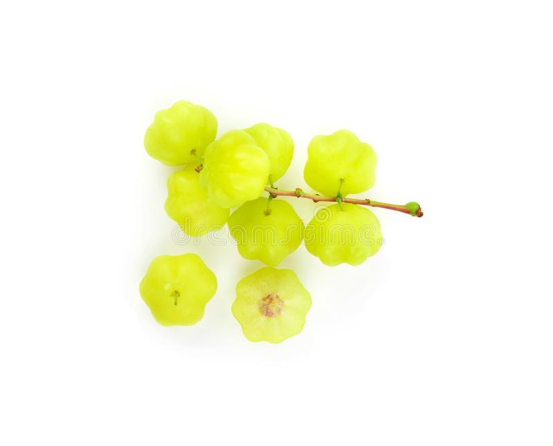 Star gooseberry isolated on white background. stock images