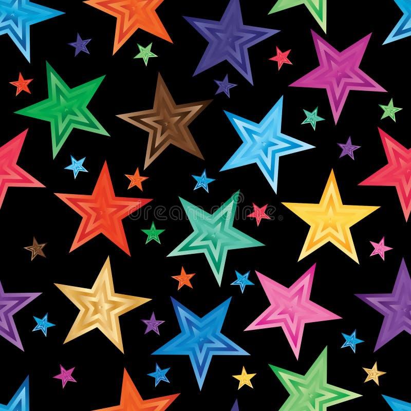 Star gradient random seamless pattern stock illustration