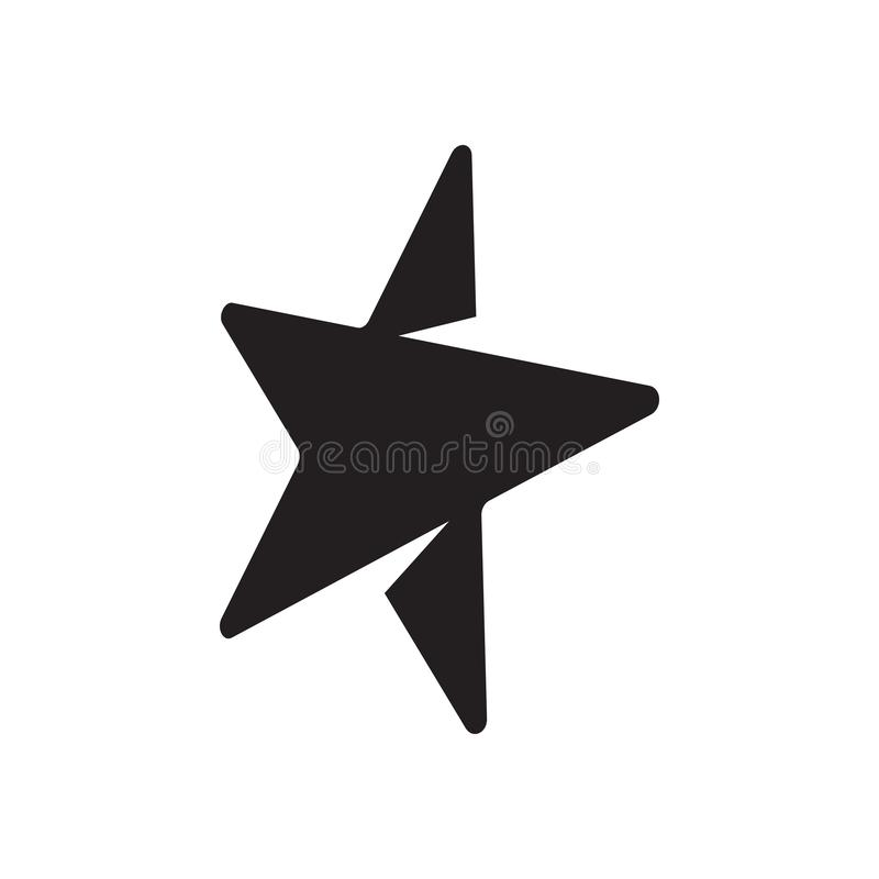 Star graphic design template vector isolated illustration. Swoosh, icon, logo, compass, clean, decoration, label, smart, idea, color, abstract, modern, company royalty free illustration