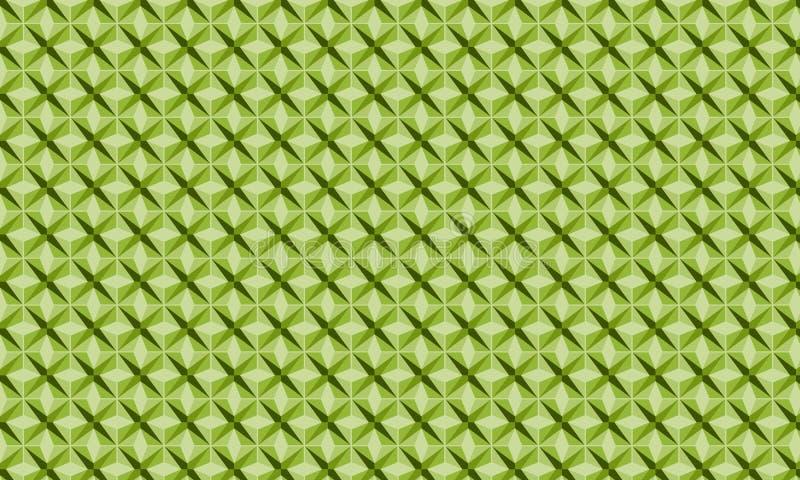Star green pattern royalty free stock photo