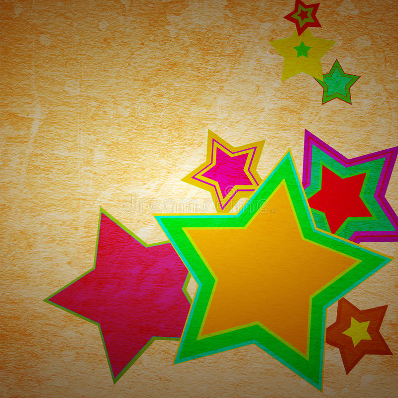 Star grunge on the paper. Abstract star grunge on the paper with some stains stock illustration