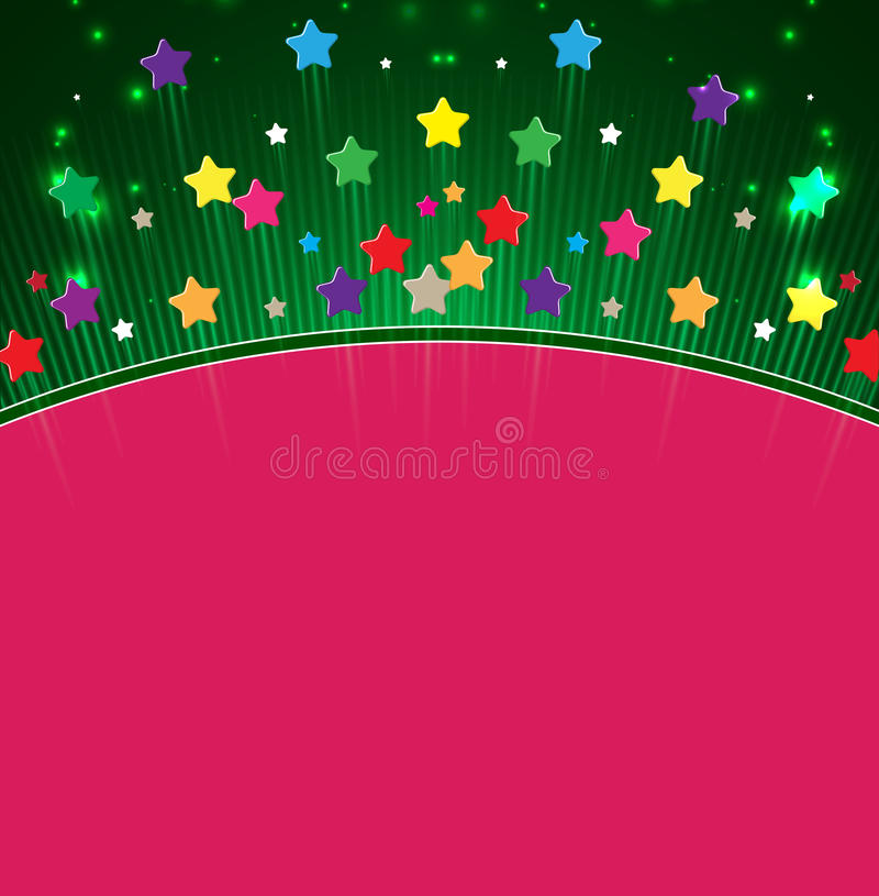Star Happy Birthday Space Abstract  Background Royalty Free Stock Photography