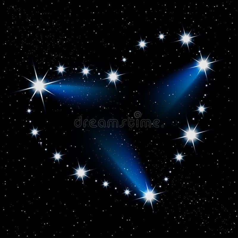 Star heart royalty free illustration