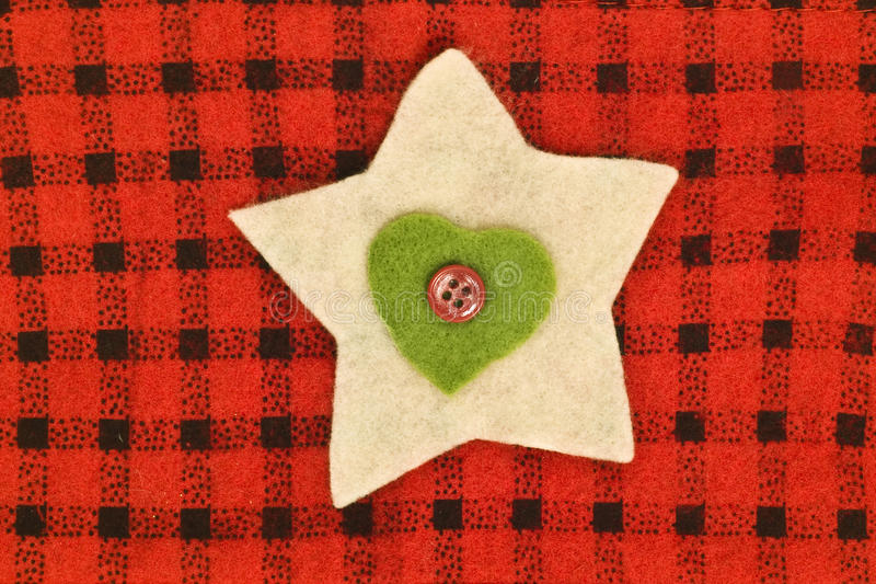 Star, heart and button stock photography