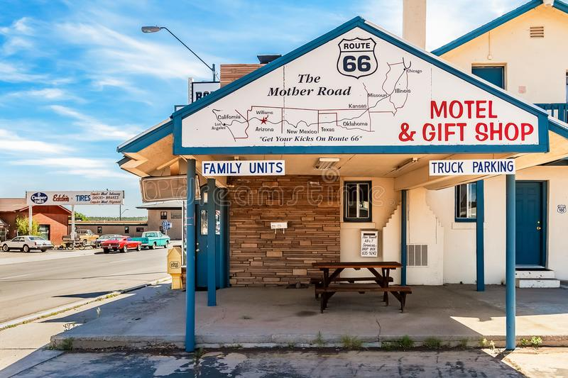 Star Hotel Route 66 royalty free stock photography