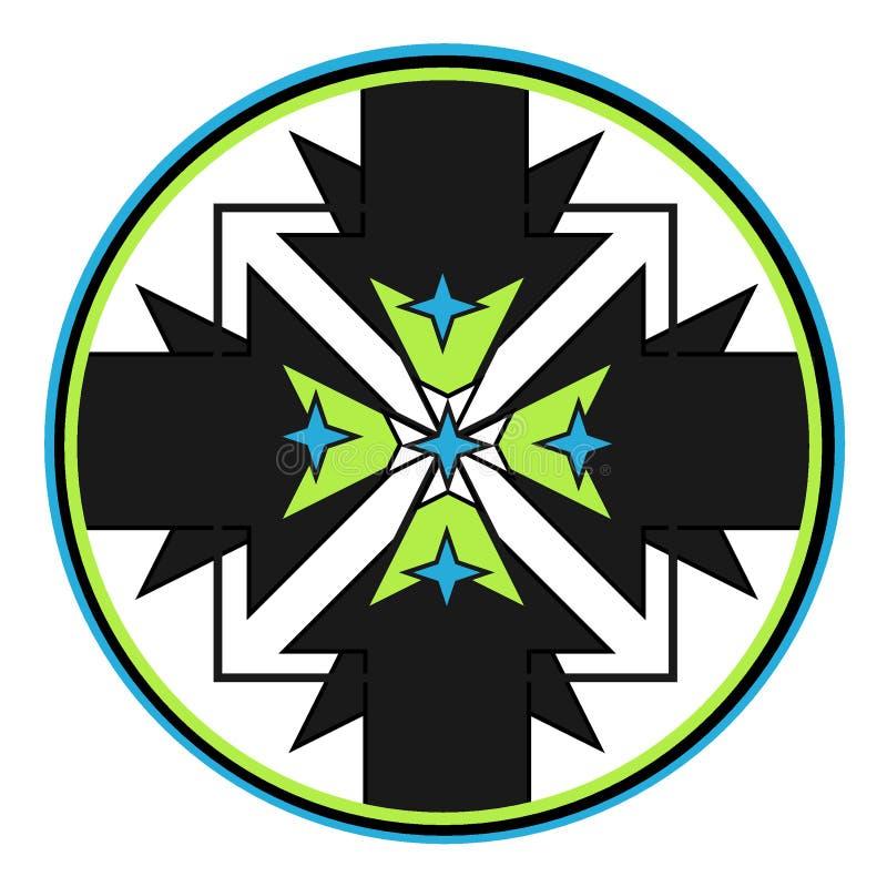 Star house logo vector illustration