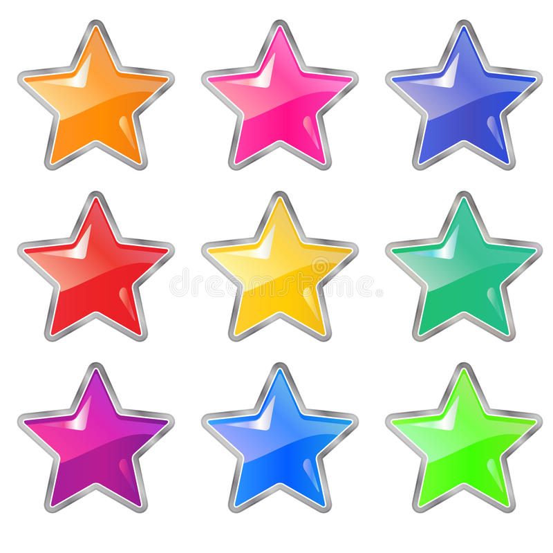Star icon. Set vector illustration isolated on white background