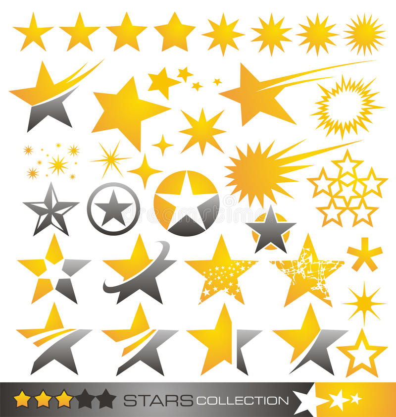 Free Star Icon And Logo Collection Royalty Free Stock Photography - 26809907