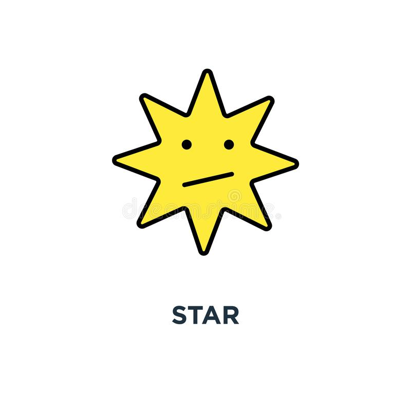 star icon. design of favorite concept symbol design, bookmark, mark or rate, ux / ui for web and mobile design, object, vector royalty free illustration