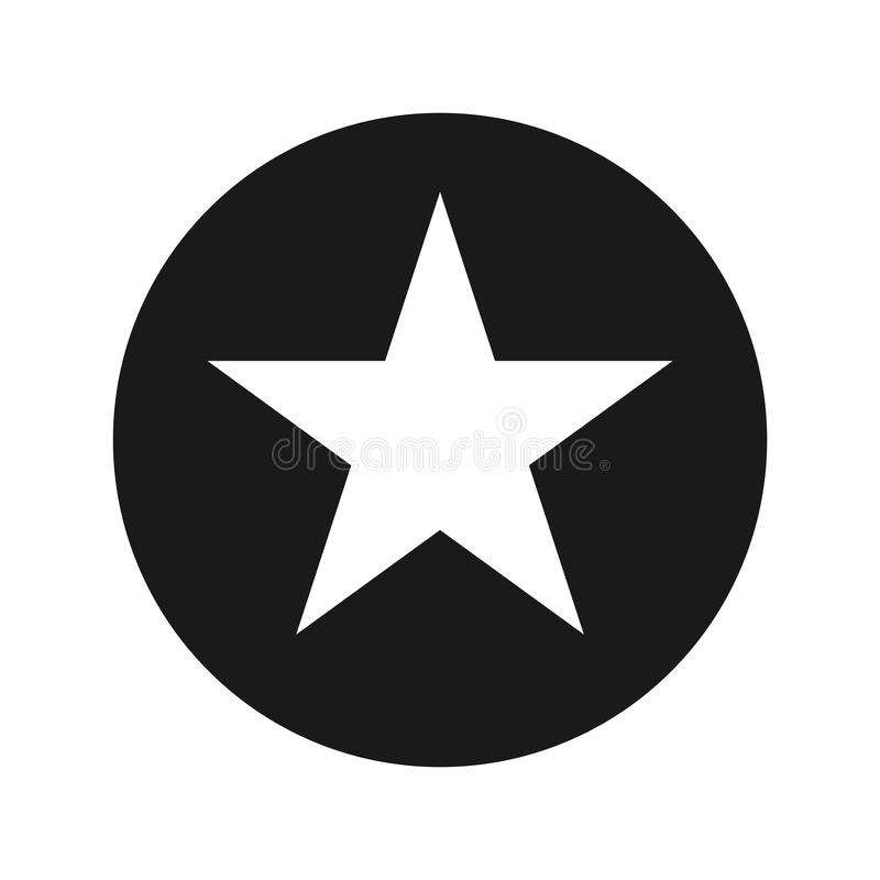 Star icon flat black round button vector illustration. Star icon vector illustration design isolated on flat black round button vector illustration