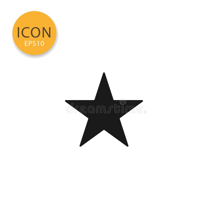 Star icon isolated flat style. Star icon flat style in black color vector illustration on white background royalty free illustration