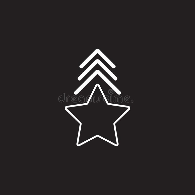 Star Icon. Simple element illustration. award symbol design template. Can be used for web and mobile. On dark background stock illustration