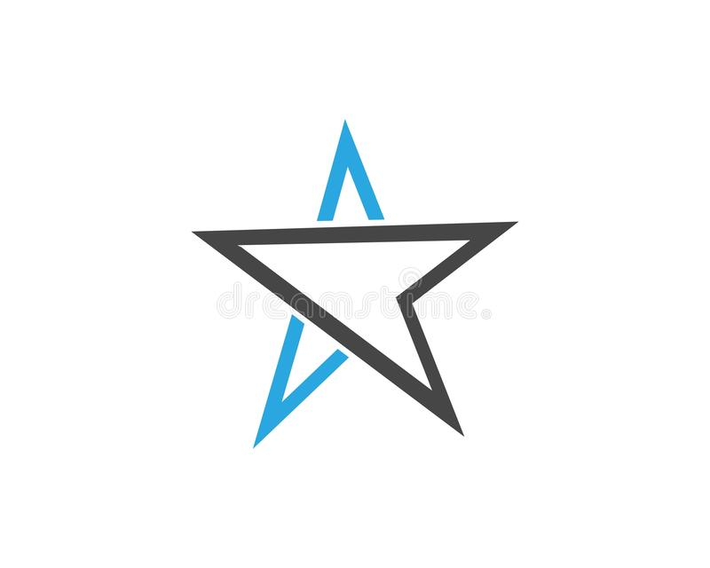 Star icon Template. Vector illustration design, logo, stars, symbol, background, element, success, isolated, shape, style, concept, graphic, web, black, art royalty free illustration