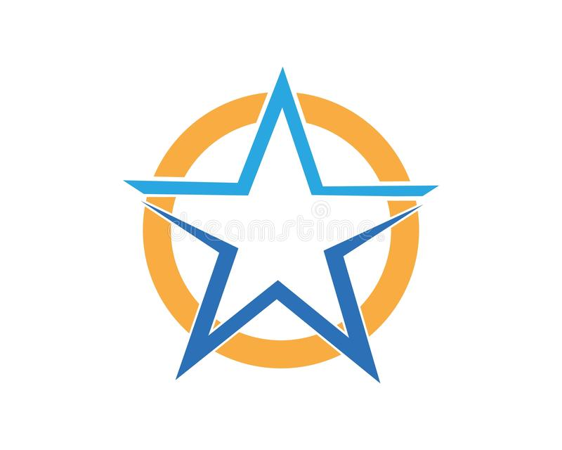 Star icon Template. Vector illustration design, logo, stars, symbol, background, element, success, isolated, shape, style, concept, graphic, web, black, art stock illustration
