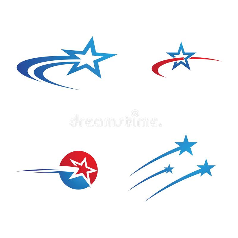 Star icon Template. Vector illustration design stars shooting abstract logo background comet symbol graphic shape tail astronomy meteorite white isolated space vector illustration