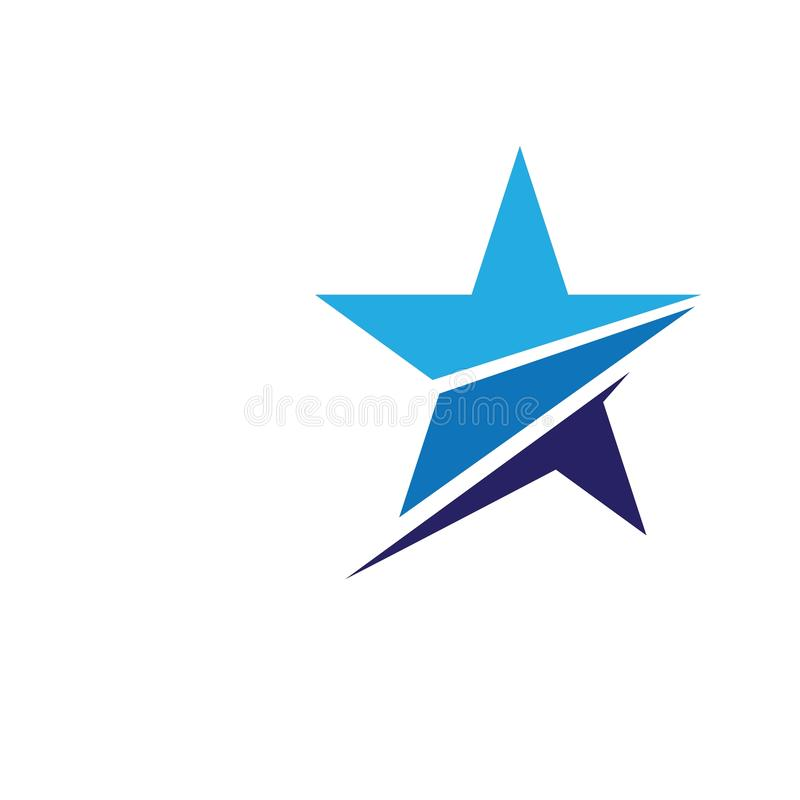 Star icon Template. Vector illustration design stars shooting abstract logo background comet symbol graphic shape tail astronomy meteorite white isolated space royalty free illustration