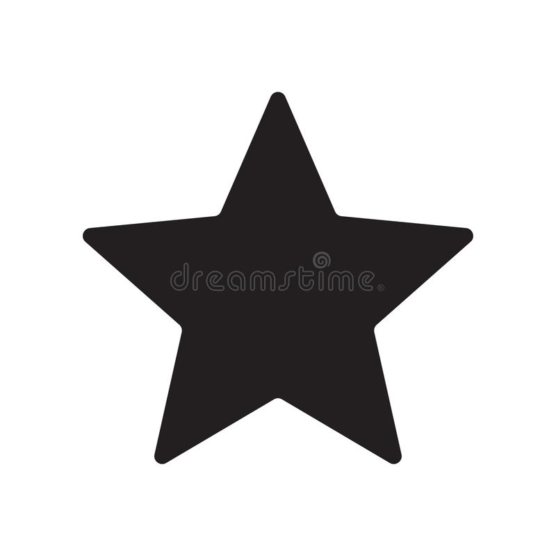 Star icon vector. Vector illustration on white background vector illustration