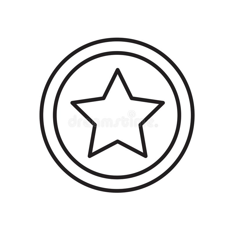 Star icon vector isolated on white background, Star sign , sign and symbols in thin linear outline style. Star icon vector isolated on white background, Star royalty free illustration