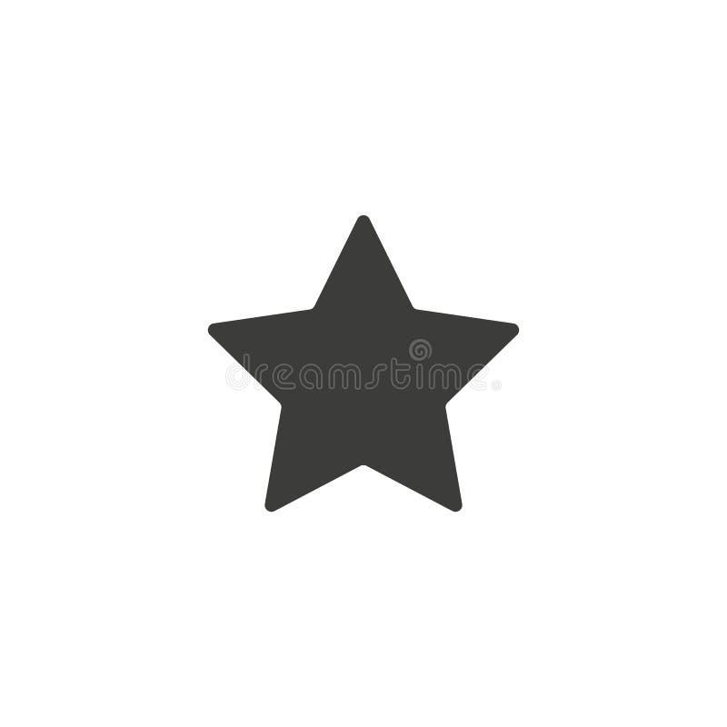 Star Icon vector. Simple flat symbol. Perfect Black pictogram illustration on white background. Eps 10 stock illustration