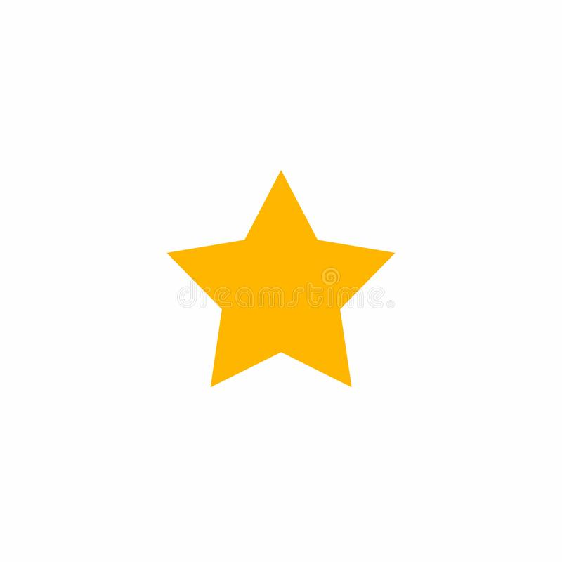 Star icon vector. Simple flat symbol. Star web site pictogram, mobile app. Perfect yellow pictogram illustration on white stock illustration
