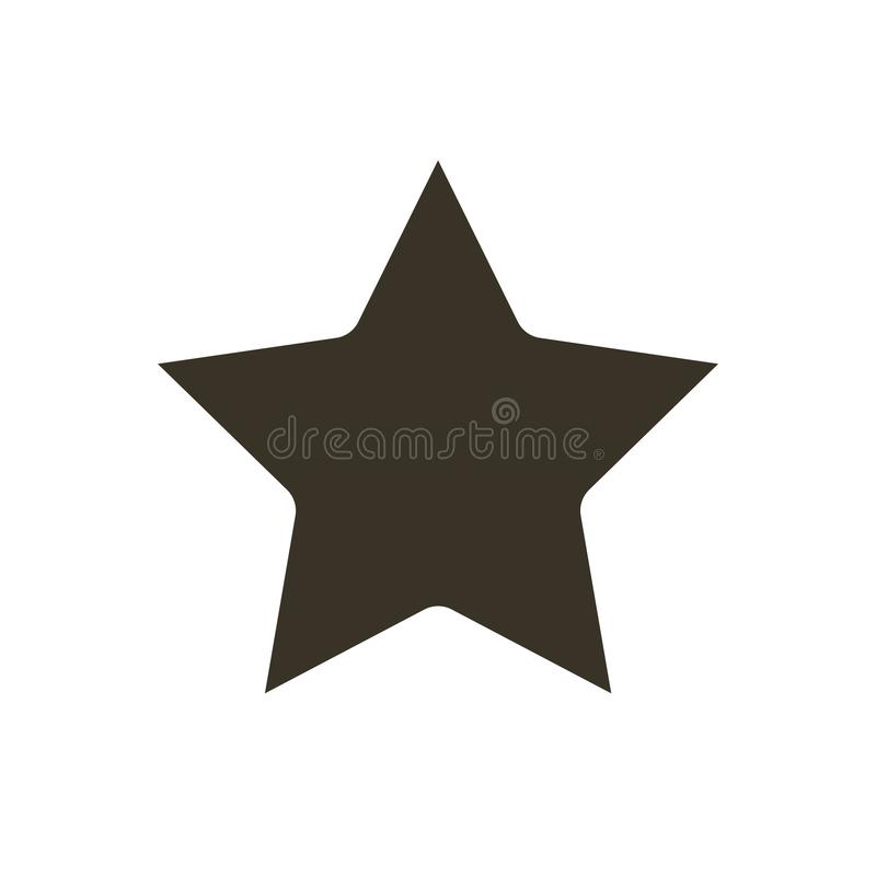 Star Icon vector. Star vector icon. Star Icon in trendy flat style isolated on white background. Rating symbol for web design vector illustration
