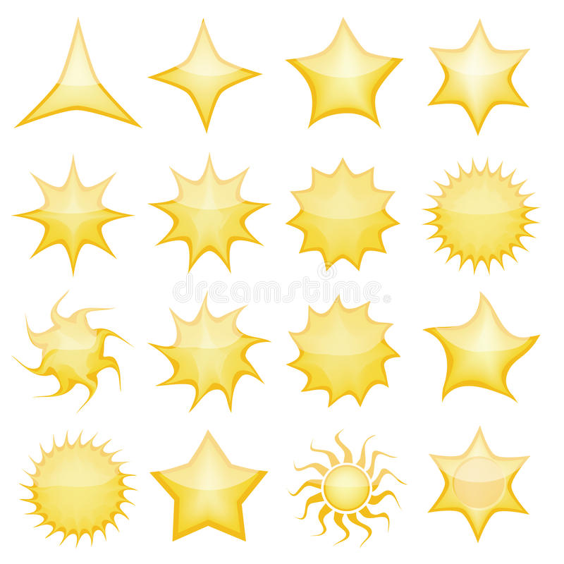 Download Star icons stock illustration. Image of sign, isolated - 19308701