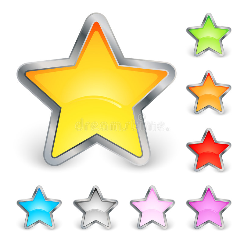 Download Star Icons Royalty Free Stock Photos - Image: 7927088