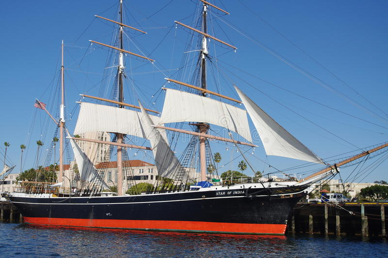 Star of India ship at the harbor royalty free stock images