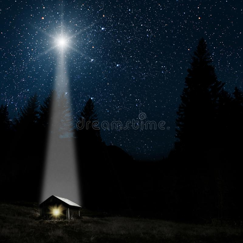 Free Star Indicates The Christmas Of Jesus Christ. Stock Photography - 130805682