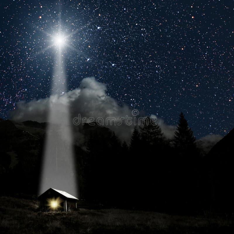 Free Star Indicates The Christmas Of Jesus Christ. Royalty Free Stock Image - 130805726