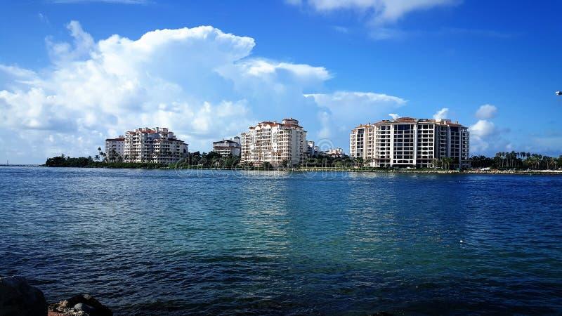 Star island in Miami Beach stock photography