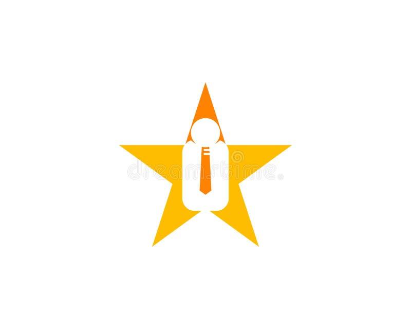 Star Job Logo Design Element. Star job logo royalty free illustration