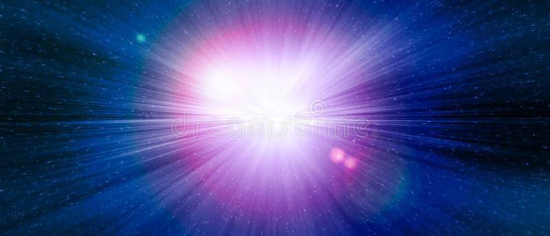 Star l'esplosione blu del portone in una galassia di un universo royalty illustrazione gratis