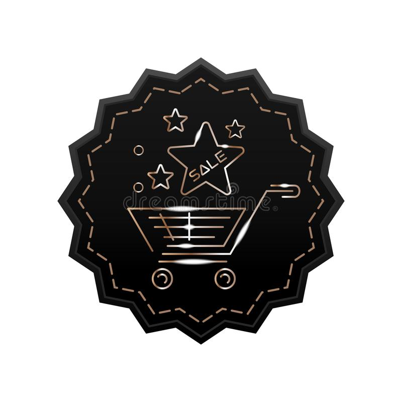 Star label for purchases royalty free illustration