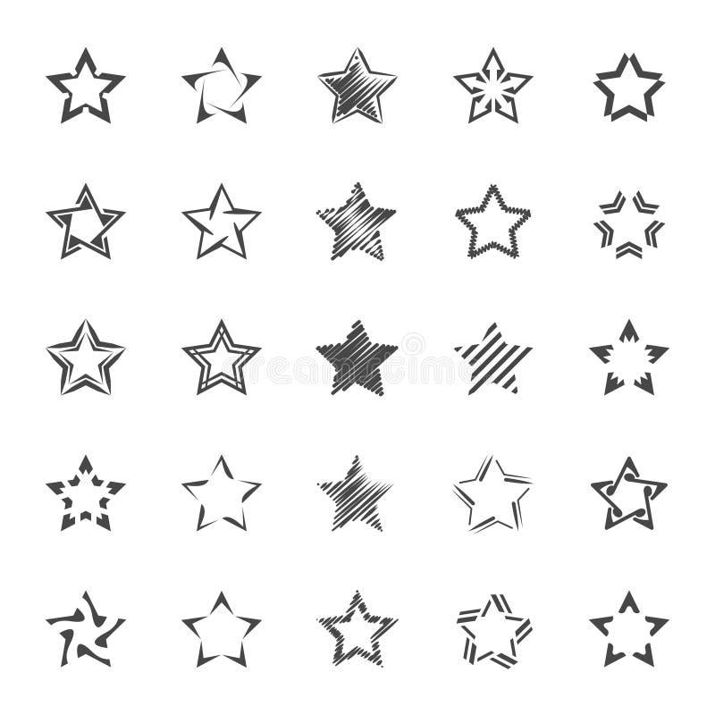 Star les formes illustration stock