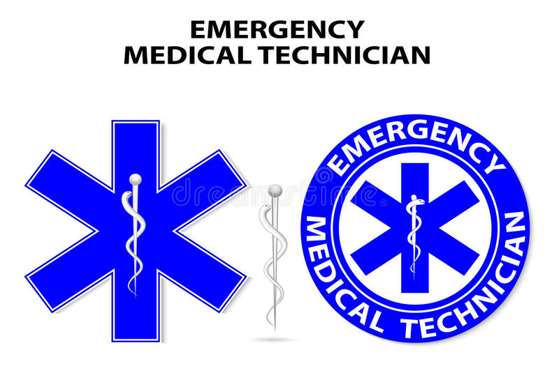 Star of Life. Emergency medical technician. global symbol of emergency medical service. Paramedic Medical Designs vector illustration