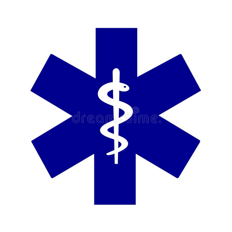 Star of life medical symbol. Illustration stock illustration
