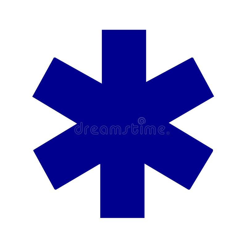 Star of life medical symbol royalty free illustration
