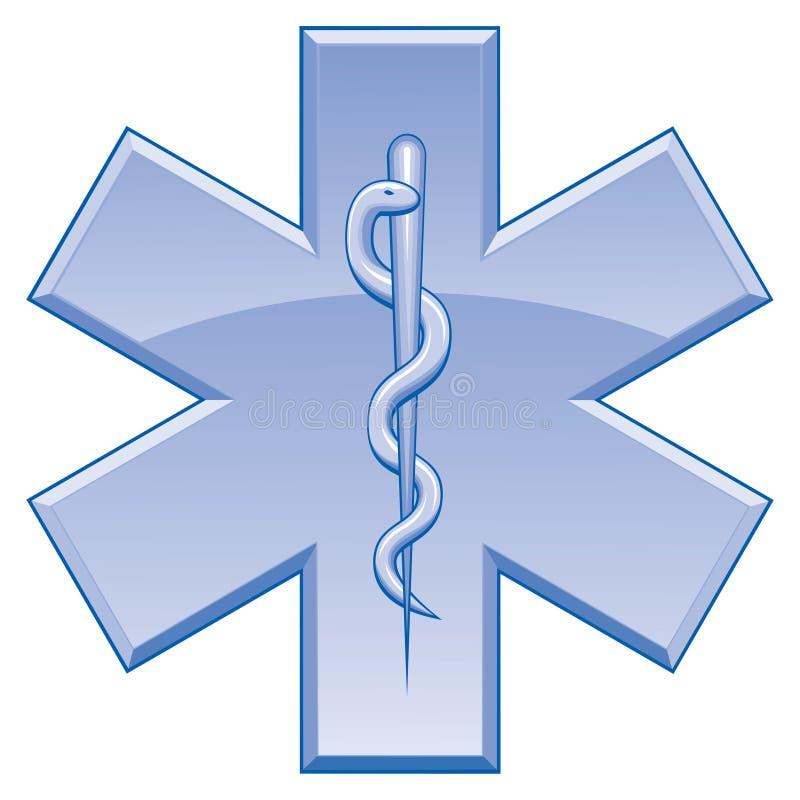 Star of Life Rescue Symbol vector illustration