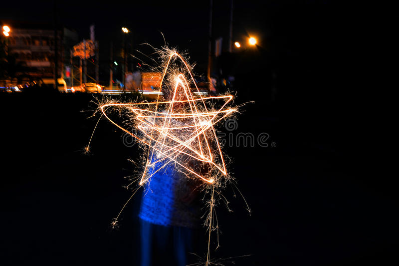 Star, light painting stock images