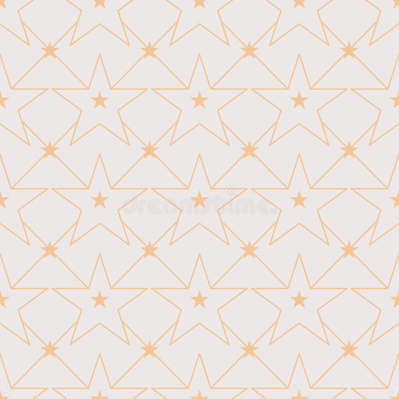 Star line out symmetry seamless pattern vector illustration